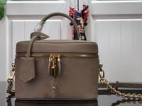 우아하게 현대 모양 M45608 허영심 PM 핸드백 양각 패턴 가죽 화장품 가방 새로운 패션 메이크업 가방 여성 메이크업 가방 세면 용품 가방