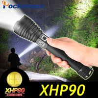 Dropshipping Lumens Lampe LED LED Puissant USB Zoom USB LED TORCH XHP90 XHP70 XHP50 18650 Batterie Best Camping1