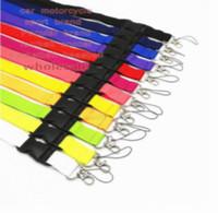 10 pcs popular estilo diferente / cor sólida moda esporte cordão chaveiro destacável para telefone cinta de câmera crachá novo