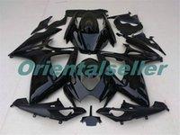 Corpo per Suzuki GSX R600 GSXR750 GSXR600 GSXR600 06-07 GSX R750 GSXR 600 750 K6 GSXR750 2006 2007 carenatura kit nuovo di fabbrica lucido AD32 nero