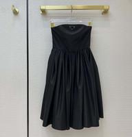 Moda Sexy Senza spalline Dress Partito Re-Nylon Style Stemper Gonne Gonne in vita Design Design Design Ago abito Midi Abiti Midi con triangolo invertito
