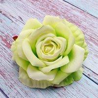 Künstliche Rose Blume Köpfe Seide Dekorative Blume Party Dekoration Hochzeit Wand Blume Blumenstrauß Weiße künstliche Rosen Bouquet PPD4101