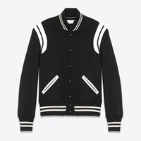 20FW Color Matching Splicing PU Baseball Jacket Stripes Spring Autumn Zipper Jacket Outdoor Men Women High Street Outwear HFHLJK132