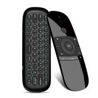 새로운 원래 W1 플라이 에어 마우스 무선 키보드 마우스 2.4G Rechargeble 미니 원격 제어를위한 스마트 안드로이드 TV 박스 미니 PC를