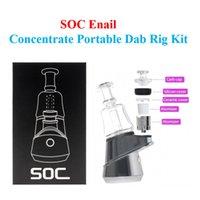 SOC EMAIL-Konzentrat Tragbares DAB-Rig-Kit 2600mAh Dry-Kräuter-Wachs-Verdampfer mit 4 Temperatureinstellung