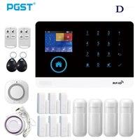 pgst pg-103 wifi / gsm نموذج مزدوج اللاسلكية الأمن الرئيسية نظام إنذار التطبيق التحكم مع pir motion detector النار دخن الكاشف 1