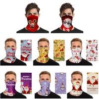 2020 Chirstmas Headscarf Face Shield Bandana Face Mask Cosply Moustache Santa Claus Elk Headband Visor Neck Gaiter Decoration Gifts