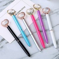 Ballpoint Pen Big Ge Gem Ball Pen con gran diamante Magical Pen Fashion School School Suponias Suministros para estudiantes Premios de regalo