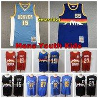 Denvers 2021 Mens Kids Swingman Jersey 27 Murray 15 Jokic 55 Dikembe Mutombo 15 Carmelo Anthony Basketball Jersey Real Logo 태그