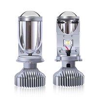 Y6 Araba LED Far Mini Lens H4 Uzak ve Yakın Entegre Balıkgözü Far
