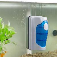 New Magnetic Aquarium Fish Tank Brosses flottant propre fenêtre en verre algues Scraper Cleaner brosse en plastique éponge Accessoires Outils C1007