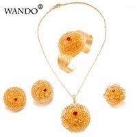 Wando красивые и элегантные цветы цепь 24k золотой браслет для женщин женские свадьбы годовщины свадьбы лучше всего продавать ювелирные изделия WS23-B1