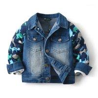 Baby Littl Boys Girls Filles automne Denim Vestes Nouveau 2020 Vêtements d'extérieur Kid Kids Jeans Enfant Toddler Vêtements Tenue 2 3 4 5 6 7 8 Années1
