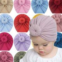 جديد وصول التعادل صبغ زهرة طباعة الطفل bandanas القبعات أزياء أطفال الوليد لطيف قبعة قبعات أغطية الرأس الرضع بنين بنات الشعر مجوهرات G20302