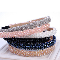 New Multicolor Crystal Glass Headband Fashion Handmade Hair ...