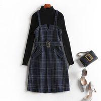 2021 가을 스웨터 크기 정장 조각 약간 드레스 여성 체스 1769 옷을 입고 옷 xr2s