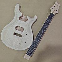 NUEVO 1 Set Sin terminar Cuello de guitarra y cuerpo PRS Kit de guitarra eléctrica DIY Parte 24.75 pulgadas