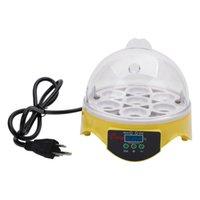 Vogelbedarf 7-Egg Mini Praktisches Geflügel Elektrisches Inkubator (US-Standard) Gelb Haustier für Hausgarten