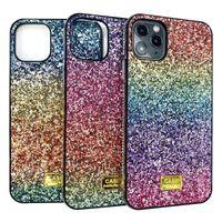 New Gradient Glitter Premium Rhinestone Case Design Women Defender Phone Case For iPhone 12 11 Pro Xr Xs Max 6 7 8 Plus samsung S20 s10 plus