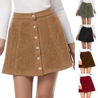 Vintage Abbigliamento in pelle scamosciata donne del cuoio 90 di Vintage gonna corta a vita alta inverno casuali 4.11