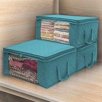 3 adet dokunmamış Katlanabilir Saklama Kutusu Taşınabilir Giysi Organizatör Düzenli Kılıfı Bavul Ev Saklama Kutusu Yorgan Saklama Kabı Çanta LJ200812