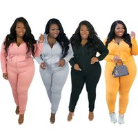 womens jacket sportswear 2 piece set plus size tracksuit long sleeve outfits hoodie pants tights sport suit tops legging hot selling klw5596