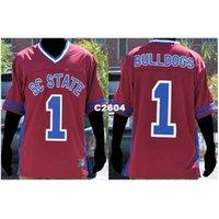 2604 # 1 Güney Carolina State Bayan Bulldogs Kolej Forması Boyutu S-4XL veya özel herhangi bir isim veya numara forma