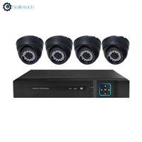أنظمة داخلي 4ch محوري HD 1080P IR 4 في 1 AHD قبة كاميرا كيت أمن الوطن مراقبة نظام الفيديو 1