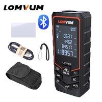 Lomvum Bluetooth Laser Distance Distance Compteur USB Rechargeable Digital Laser RangeFinder Handheld 120m 100m 80m 50m Nivelant électrique T200603