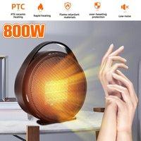 Aquecedores elétricos inteligentes 220V 800W portátil aquecedor de escritório mini home fã útil ar quente silencioso ~ 1
