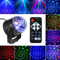 Sonido activado láser proyector efecto lámpara luz música navidad fiesta iluminación luz luz cristal mágico bola luz dropshipping