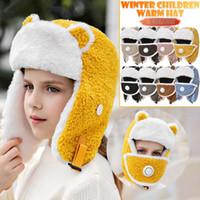 Cappelli, sciarpe guanti set unisex bambini carino antivento antivento caldo cappello caldo protezione viso inverno bambini cap 2021 regalo di Natale