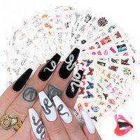 1 UNID NUEVO NUEVO Pegatinas de uñas Insegua Japanese Personalidad tridimensional Python Black letras Dibujos animados Labios Nail Pegatinas Joyería