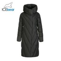 Icebear neue Winterkleidung lange Frauen Daunenjacke Art und Weise warme Damen-Parka Markenfrauen GWD19149I 201019
