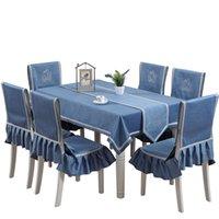 식탁보 아트 사각형 면화 린넨 신선한 격자 무늬 테이블 천으로 의자 매트 다이닝 의자 세트 홈 의자 덮개 테이블 플래그 T200707