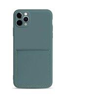Custodia per telefoni cellulari in silicone liquido per iPhone12 11Pro Max XS Max Case portafoglio di lusso per iPhonex 8 7 Plus