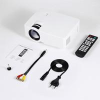 نظام المسرح المنزلي E08S مصغرة محمولة العارض 200 Lumen 800 × 480 كامل HD الصمام الفيديو السينما IR التحكم عن بعد سلكية نفس الشاشة 1