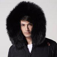 İtalya Tasarım Mr Kürk Uzun Ceket Hood Rakun Kürk Yaka, Ordu Yeşil, Koyu Mavi, Siyah Tavşan Kürkleri Liner Parka