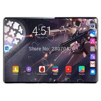 Expédition rapide 10 pouces Tablette PC 10 CORE 8GB RAM 128GB ROM DUAL SIM SIM 4G LTE Tablettes de téléphone portable Robust 2.5D 1920 * 1200 FHD Écran