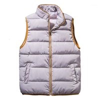 여성 트렌치 코트 여성용 민소매 파카 조끼 숙녀 'winter 따뜻한 두꺼운 캐주얼 의류 1