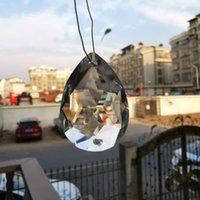 5pcs Chandelier Crystals Prism 2 fori pendenti di cristalli appesi per soffitto basso fai da te Suncatcher Home Decor di nozze Accessori H Jllgge