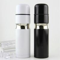 Klasik logo vakum fincan termoslar 304 paslanmaz çelik araba şişesi ruj kahve fincanı seyahat vakum şişesi