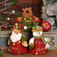 عيد الميلاد أبل حقيبة غير المنسوجة النسيج أكياس الحلوى الكرتون 3d دمية هدية حامل حزب زخرفة عيد الميلاد جو الديكور 1