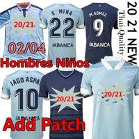 Rétro 2002 04 RC Celta de Vigo Soccer Jerseys Bar 2020 2021 Iago Aspas Hugo Mallo Santl Mina Camiseta Futbol Men Hommes Kids Chemise de football