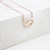 Collares colgantes Minimalismo Montaña para mujer Boho Jewelry Cadena de acero inoxidable Colgantes Regalos de amistad BFF Collier Femme