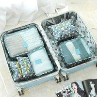 أكياس التخزين 6 قطعة / المجموعة أكسفورد الملابس سفر شبكة حقيبة التعبئة الأمتعة التشطيب منظم الحقيبة حقيبة داخلية فرز waterpr1