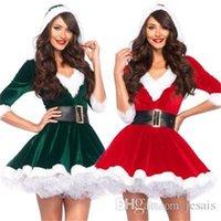 2pcs Set Miss Claus Dress Traje Cosplay Santa Outfit Etapa Vestido Tema Tema Santa Sweetie Traje Tema Theme Party 201008