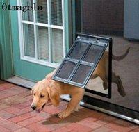 Blockable Plastic Pet Dog Cat Kitty Дверь для экрана Окна Безопасность Блажение Гейтс ПЭТ Туннель Собака Забор Доступ для дома Bbyxjnn