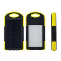 8000mAh Solar-Ladegerät Solarstrom-Ladegerät Wasserdichte Sonnenkollektor-Batterie-Ladegeräte mit LED-Taschenlampe Camping ourdoor