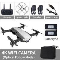 Drohnen Lansenxi-NVO Faltbar 2,4 GHz WiFi FPV DRONE 4K Kamera RC Echtzeitübertragung Flugzeugspielzeug mit 2 Batterie1